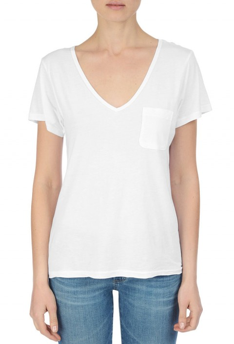 AG The V Neck Pocket Tee
