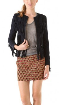 Gryphon - Fringe Suede Jacket (worn by Aria Montgomery on Pretty Little Liars)