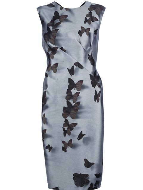 Lanvin butterfly print dress