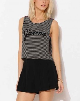 Truly Madly Deeply - J'aime Stripe Muscle Tee