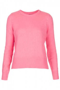 Topshop - Knitted  Fluffy Jumper