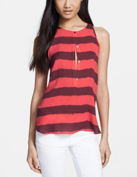 A.L.C. - 'Lennox' Rugby Stripe Silk Tank (worn by Ashley Marin on Pretty Little Liars)