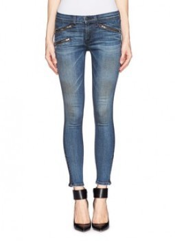 Rag & Bone/JEAN - Zipped pocket skinny jeans