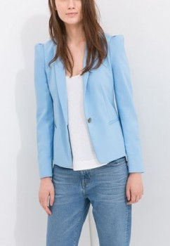 Zara - Fabric Blazer (worn by Alison DiLaurentis on Pretty Little Liars)