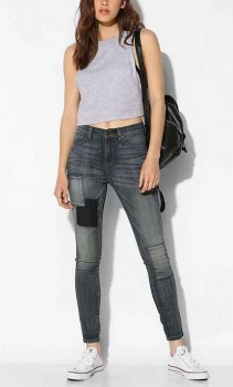 Urban Outfitters - Twig High-Rise Jean in Bottega Patches