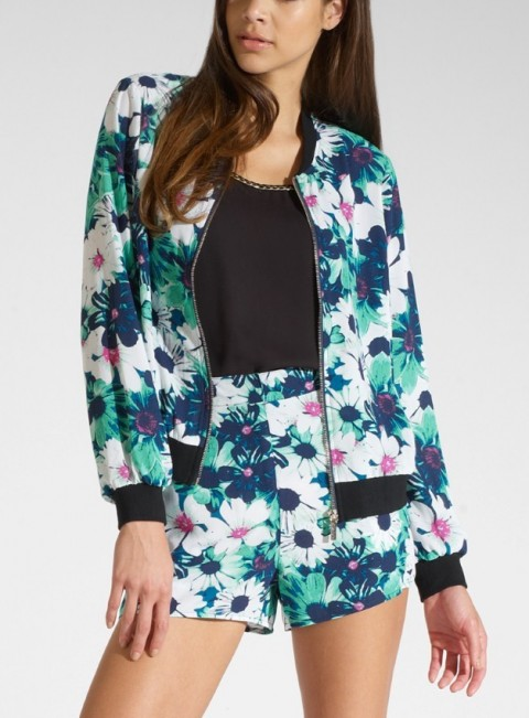Kardashian Kollection for Lipsy Floral Bomber Jacket