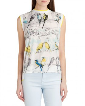 Ted Baker - Joliae Canary Print Top
