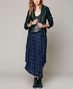 Free People - Tartan Tea Length Skirt