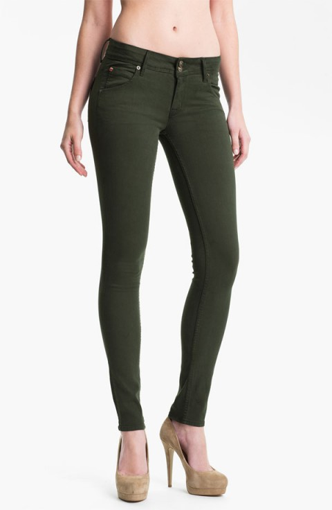 Hudson 'Collin' Skinny Stretch Jeans (Fern)