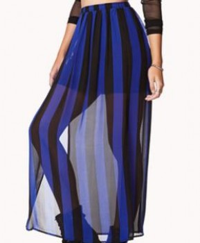 Forever 21 - Vented Striped Maxi Skirt (worn by Aria Montgomery on Pretty Little Liars)