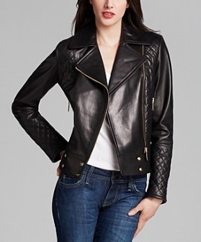 Calvin Klein - Asymmetric Zip Quilted Leather Jacket (worn by Abby Day on New Girl)