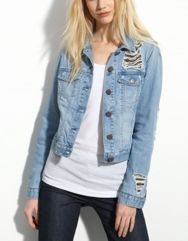 Gryphon - Chain Mesh Denim Jacket (worn by Aria Montgomery on Pretty Little Liars)