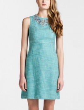 CYNTHIA STEFFE - Embellished Tweed Sheath Dress