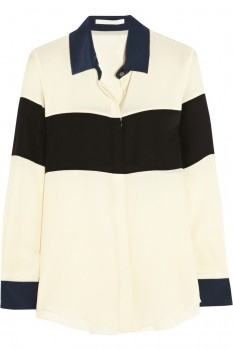 Jonathan Simkhai - Striped Silk-Crepe Blouse