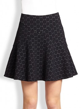 Marc by Marc Jacobs - Leyna Dotty Fit-&-Flare Ponte Skirt