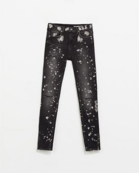 Zara - Jeans with Painted Spots and Rips