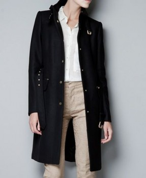 Zara - Wool Coat with Buckles