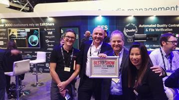 EditShare Single Node Scale-out Storage Solution Takes Home Prestigious IABM Design & Innovation Award and TV Tech Global Best of Show Award at IBC2017