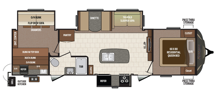Travel Trailer Floorplan