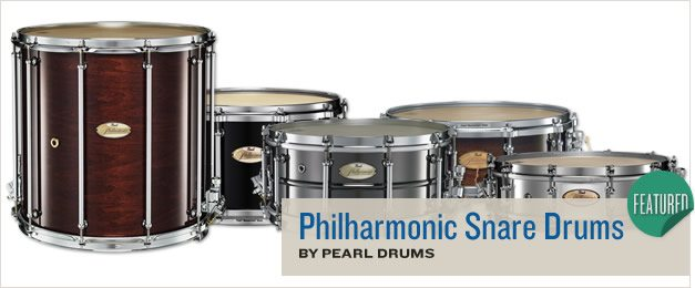 Pearl Philharmonic Snare Drums.