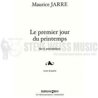 Le premier jour du printemps by maurice jarre percussion ensemble music sheet music steve - 1er jour du printemps ...