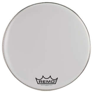 remo smooth white emperor marching bass drum head