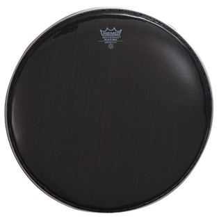 remo black max marching snare drum head with underlay
