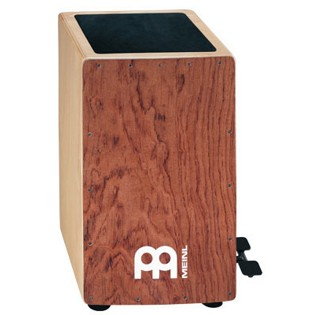 meinl ergo-shaped pedal cajon with bubinga frontplate