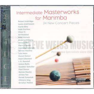 zeltsman-intermediate masterworks for marimba (2cd)