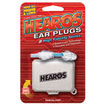 hearos high fidelity ear plugs - 1 pair with case