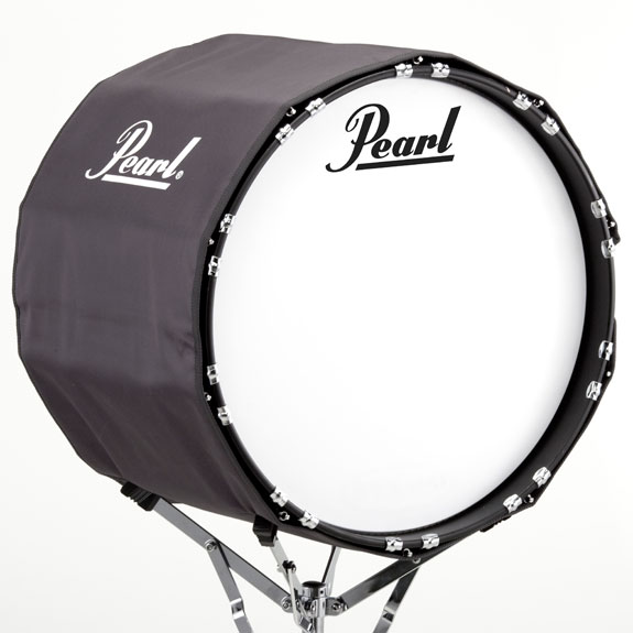 how to wear a marching bass drum