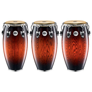 meinl woodcraft series congas - antique mahogany burst
