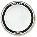 aquarian super kick 10 bass drum head