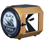 swan percussion black swan drum - caramelized bamboo