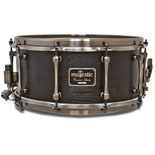 majestic concert black series snare drum - 14x6.5 maple