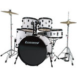 "ludwig accent cs combo driver drum set with 22"" bass"