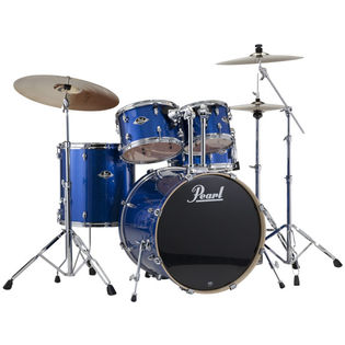 pearl exx export fusion drum set with 22′ bass drum and hardware