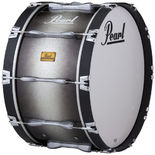 "pearl 16"" championship bass drum black silver burst"