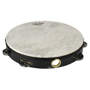 "remo 10"" single row tambourine black"