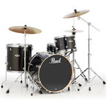 "pearl exx export 4 piece black gold sparkle shell pack with 22"" bass drum"