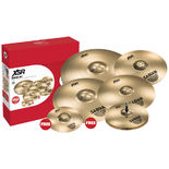 "sabian xsr super set - with free splash and 18"" fast crash"