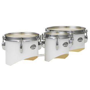 pearl junior marching tenor trio with carrier - white