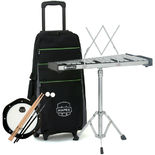 mapex backpack percussion kit with integrated roller bag