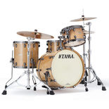"tama starclassic maple 3 piece shell pack with 20"" bass drum - figured maple gloss"