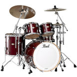 "pearl mcx masters 4 piece shell pack vintage wine finish with 22"" bass drum"