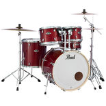 "pearl export exl 5 piece drum set with 20"" bass drum and hardware"