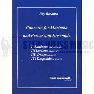 rosauro-concerto for marimba and percussion ensemble (sp)-p/ds/4t/x/v/m