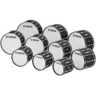 yamaha mb-8300 field-corps series marching bass drum
