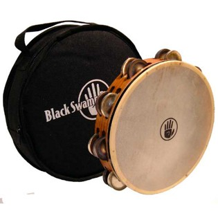 "black swamp 10"" double row tambourine - tc2"