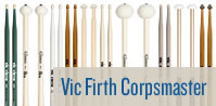 Vic Firth Corpsmaster Drumsticks.